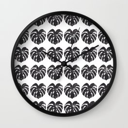 Monstera leaf Wall Clock