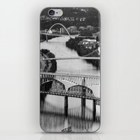 pittsburgh iPhone & iPod Skins featuring Pittsburgh bridges by Jaclyn Scott