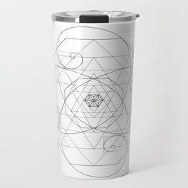 Fibonacci Geometric Mandala Travel Mug