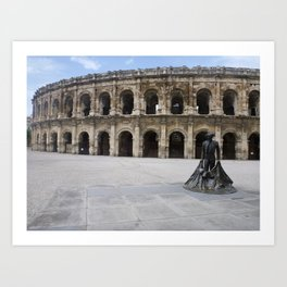Arena of Nîmes Art Print