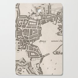 Vintage Map of Plymouth England (1764) Cutting Board