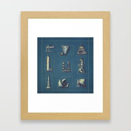 Blueprint for Architectural Growth Framed Art Print