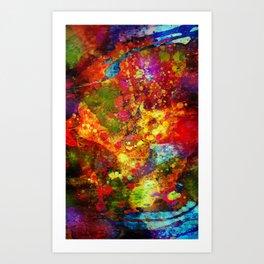 The Eye Of Craziness Art Print