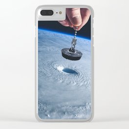 Down the drain Clear iPhone Case