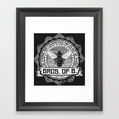 Bros. of B. Dark Framed Art Print
