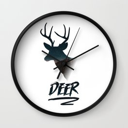 Deer silhouette mountain outdoor antlers gift Wall Clock