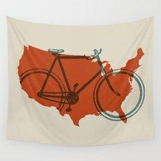 Bike America Wall Tapestry