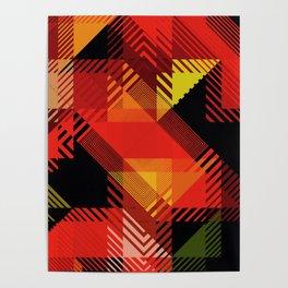 Fall Color Multi Pattern Design Poster
