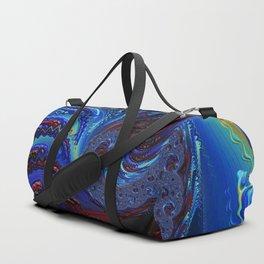 Blue Spiral Duffle Bag