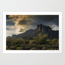 Rainy Day in the Superstitions Art Print