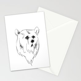 sad bear Stationery Cards