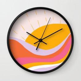 laurel canyon sunrise Wall Clock