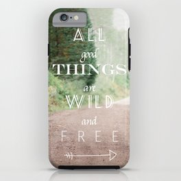 ALL GOOD THINGS iPhone Case