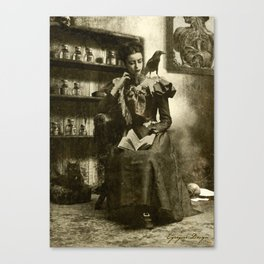 Dark Victorian Portrait Series: Lady Charlotte Nightshade, Her Majesty's Necromancer Portrait 2 Canvas Print