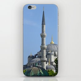 Blue Mosque, view from Sultanahmet, Istanbul, Turkey iPhone Skin