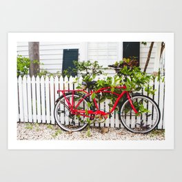 Key West Bike Art Print