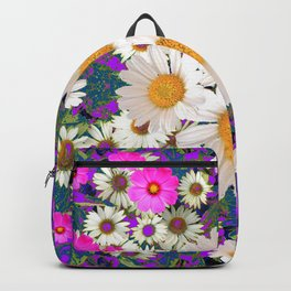 DAISIES & FUCHSIA COSMO FLOWER GARDEN Backpack