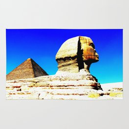 Sphinx and Pyramid Rug