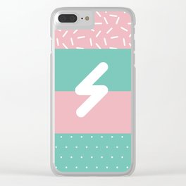 Memphis Style N°5 Clear iPhone Case