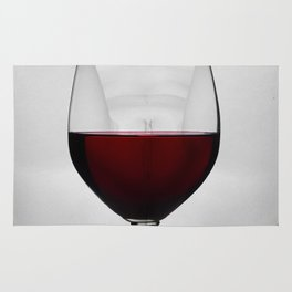Red wine and naked woman Rug