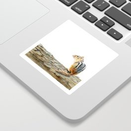 Little Chip - a painting of a Chipmunk by Teresa Thompson Sticker