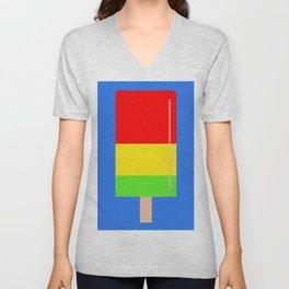 Popsicle fun art Unisex V-Neck