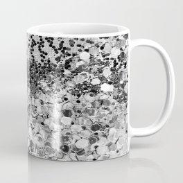 Sparkly Silver Glitter Confetti Coffee Mug