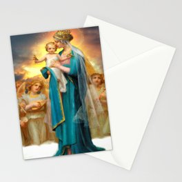 Our Lady of the Angels clouds Stationery Cards
