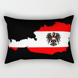 Austrian Flag and Map Rectangular Pillow