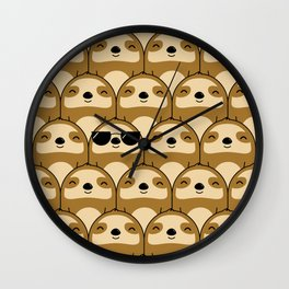 Sloth Army Wall Clock