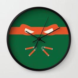 Orange Ninja Turtles Michelangelo Wall Clock