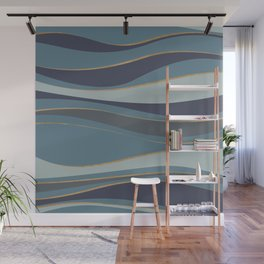 Blueprint Wavy Pattern 6 Wall Mural