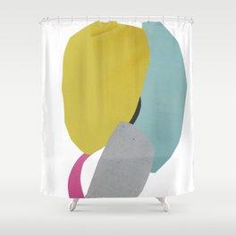 minimalist collage 03 Shower Curtain
