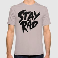 Stay Rad (on White) Mens Fitted Tee 2X-LARGE Cinder