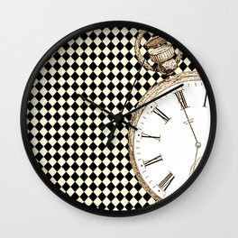 Time for Lisa Pattern and PocketWatch  Wall Clock