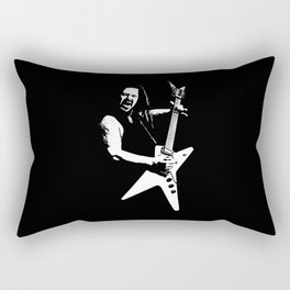 Black Tooth Grin [White] Rectangular Pillow