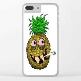 High Pineapple Clear iPhone Case