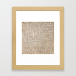 Len Sack Fabric Texture Framed Art Print