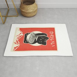 Vintage Kawaii Cat Anime graphic Gift Retro Japanese Style Rug