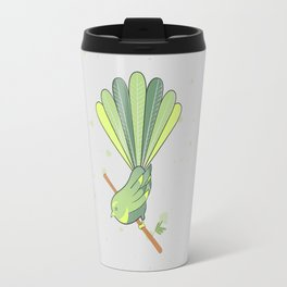 New Zealand Native Birds - Fantail Travel Mug