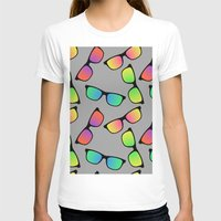 sunglasses T-shirts featuring Sunglasses Pattern by Karolis Butenas