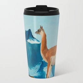 Guanaco South America Oil Painting Travel Mug