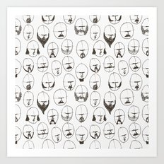 Moustaches and Beards Art Print