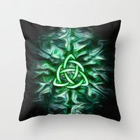 Throw Pillows featuring Triquetra by Arcuedes