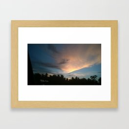Fox In Socks - Clouds Framed Art Print