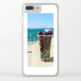 National Cherry Festival - Traverse City, Michigan - Local Sweet Cherries In A Cup Clear iPhone Case