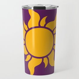 Tangled Rapunzel Sun Logo - Corona Symbol Travel Mug