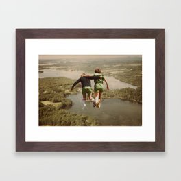 on the lake & by the sea Framed Art Print