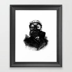 Gas mask fetish Framed Art Print