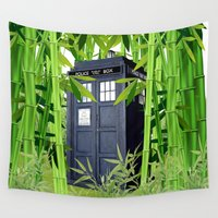 tardis Wall Tapestries featuring Tardis by tanduksapi
